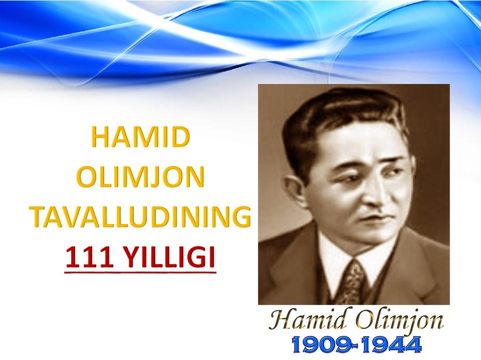 Hamid Olimjon qalbimizda, yuragimizda!